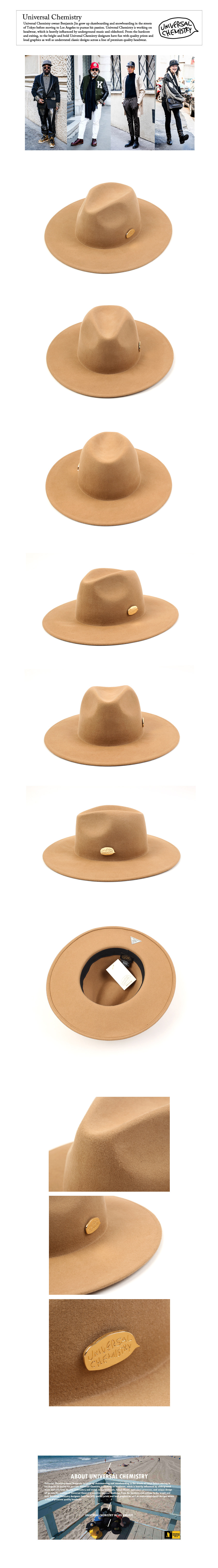 Beige Simple Fedora GD 심플페도라