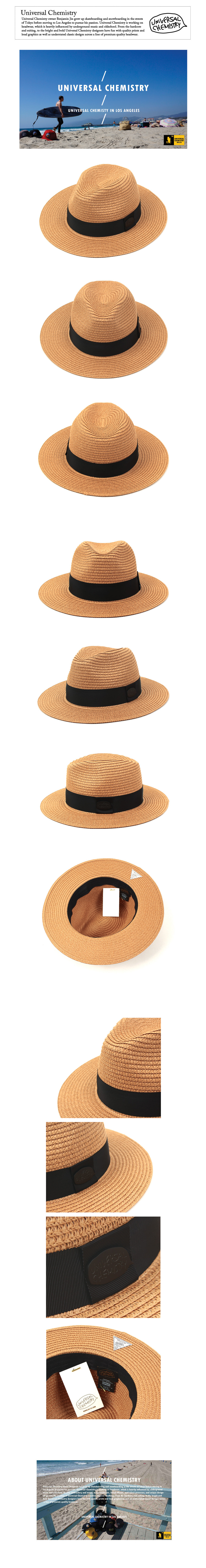 Black-Metal Summer Beige Fedora 썸머페도라