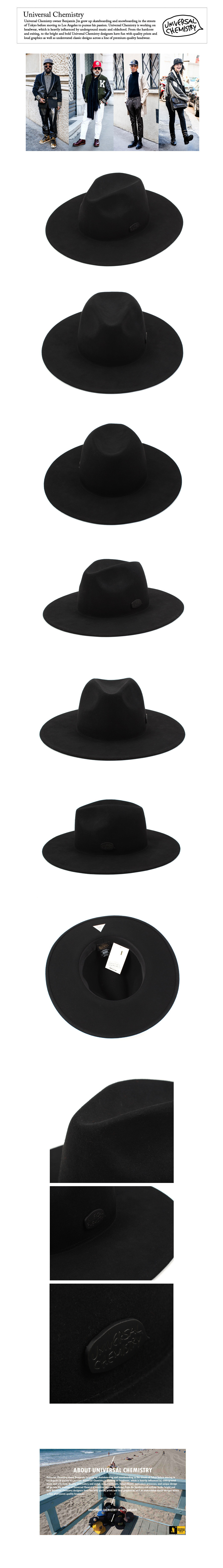 Black Simple Fedora BK 심플페도라