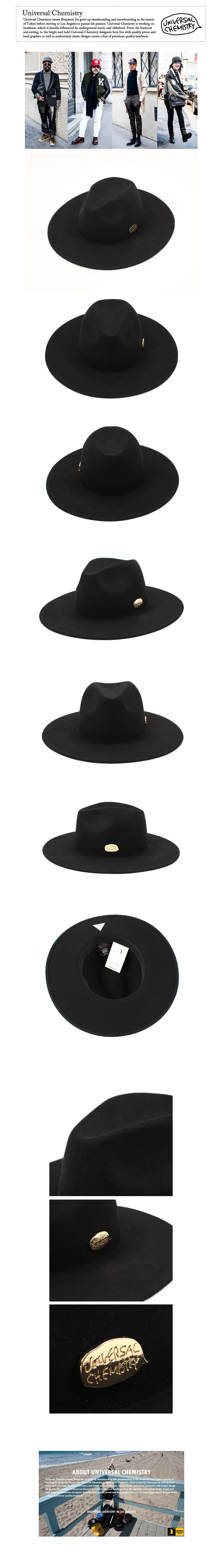 Black Simple Fedora GD 심플페도라