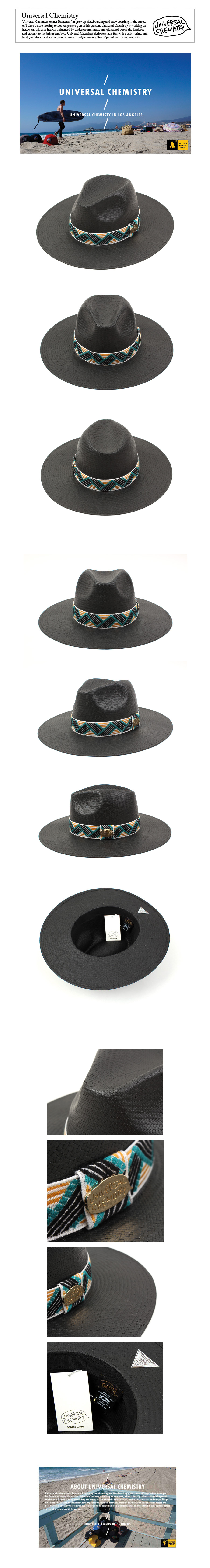 Cool Line Summer Long Black Fedora 썸머페도라