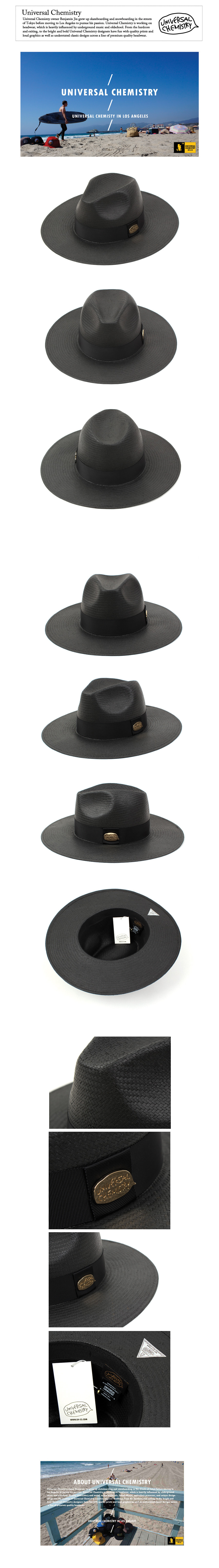 Summer Metal Long Fedora BK 썸머페도라