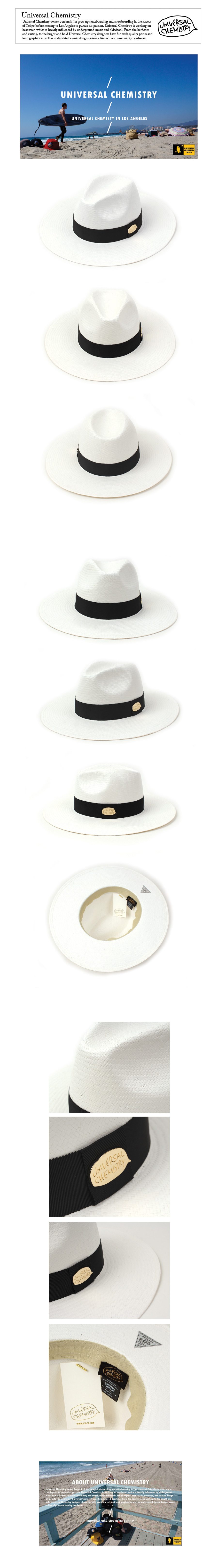 Summer Metal Long Fedora WH 썸머페도라